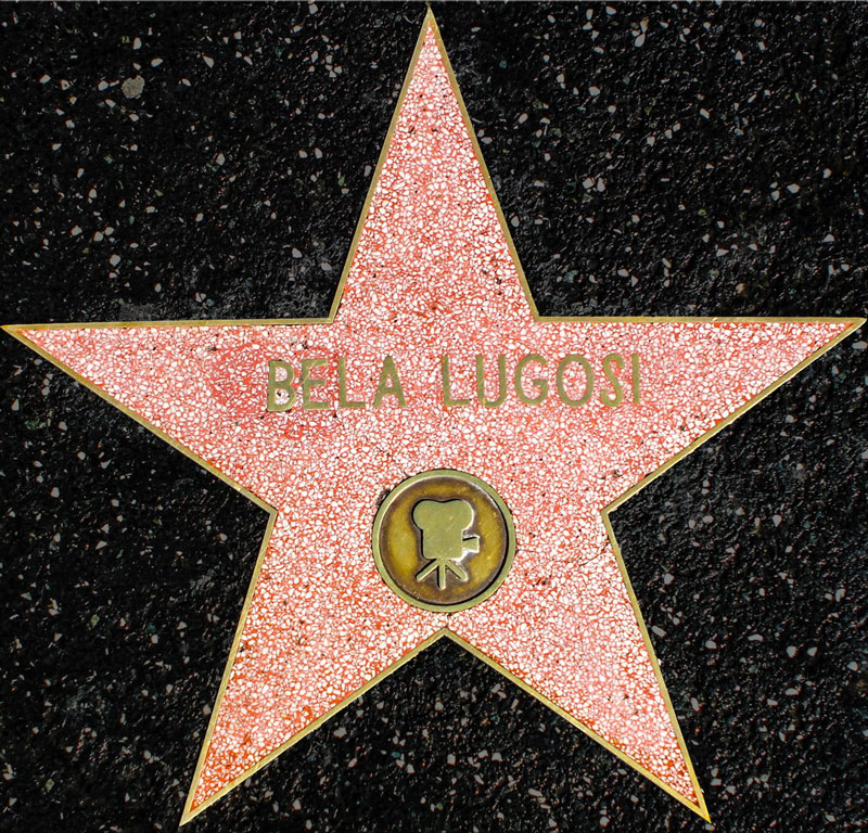 Bela Lugosi's Star on the Hollywood Walk of Fame